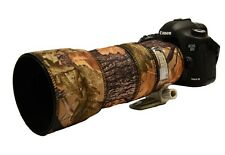 Canon EF 100 400mm f/4.5-5.6 IS Neoprene Lens Cover & protection Oak camo MK1