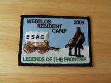 Boy Scout Patch Webelos Resident Camp BSAC Legends Of The Frontier 2009