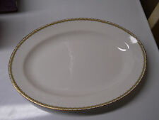 "VINTAGE CLEVELAND CHINA 14"" SERVING DISH PLATTER 720 WARRANTED 18 CARAT GOLD"