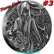 Australia 2016 Norse Gods – Loki 2oz Silver High Relief Coin Perth Mint COA Box!