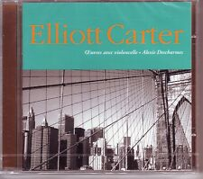 ELLIOTT CARTER CD NEW CELLO WORKS