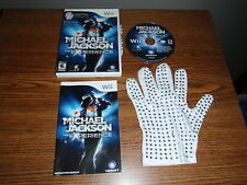 MICHAEL JACKSON THE EXPERIENCE NINTENDO Wii Game Special Edition w/Glove
