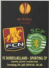 Orig.PRG   Europa League  2010/11  FC NORDSJAELLAND - SPORTING LISSABON ! SELTEN