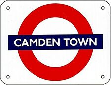 """CAMDEN TOWN"" London Underground roundel small enamel sign  125mm x 95mm (gg)"