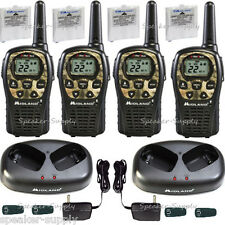 Midland Walkie Talkie Two Way Radio 4 Pack Camo 24 Mile Hunting LXT535VP3 x2