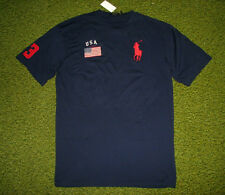 Men's $65 (4XB-Big) POLO-RALPH LAUREN Navy USA FLAG & BIG PONY T-Shirt (4X)