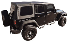 2010-2015 JEEP WRANGLER UNLIMITED BLACK SOFT TOP .& TINTED REAR WINDOWS 4 DOOR