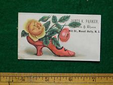 1870s-80s James K Parker Boots & Shoes Mount Holly, NJ Victorian Trade Card F15