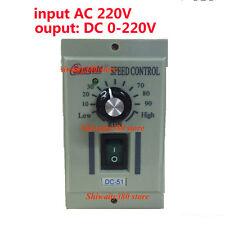 AC 220V Speed Controller output DC 0-220V Adj For 400W 1/3ph Lathe Motor UK EU