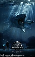 JURASSIC WORLD Original Movie Poster DS 27x40 2-sided RARE Authentic Adv howono
