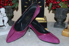 CHRISTIAN LACROIX ITALY PURPLE SUEDE LEATHER CLASSIC WOMEN'S PUMP SHOES SIZE 38
