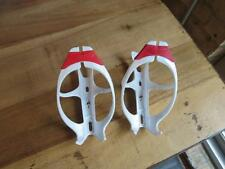 Specialized White & Red Rib Water Bottle Cage (2) Two Cages S-Works Tarmac Venge