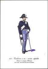 STAMPA UNIFORMI STORICHE - CARABINIERE A CAV. - SERVIZIO APPIEDATO - 1848 DEGAI