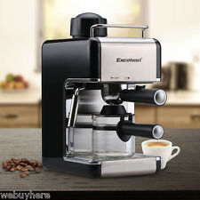 Stainless Steel Cappuccino Latte Coffee Maker Expresso Machine Steam Frothing US
