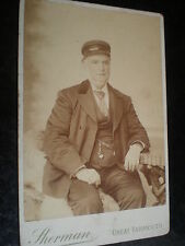 Old Cabinet photograph man in uniform by Sherman at Great yarmouth c1890s