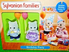 Calico Critters, Sylvanian Families RETIRED HTF SIMPKINS CATS Birthday Party Set