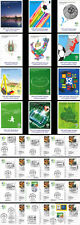 """12 Postal stationnery GERMANY """"FIFA World Cup 2006 - French Football Team"""" 2006"""