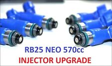6 x 570CC Fuel Injectors for NISSAN / NISMO SKYLINE R34 RB25DET NEO DENSO ER34