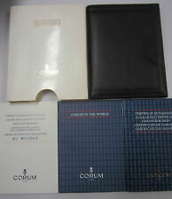 CORUM ROMVLVS Gold Watch Guarantee Papers Stone Cert Service Manual & NOS Wallet