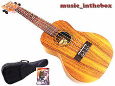 "WOODNOTE/ Great 24"" Acacia Concert Ukulele & Padding Bag / Extra Maple Tuner"