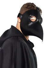 Darkness Faux Leather Plague Doctor Adult Men Accessory Clear Eyes Mask 2157