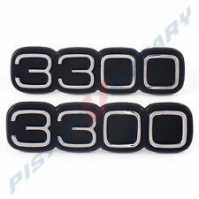 3300 Boot or Guard Badges x2 , Chrome New for Torana LH LX Fender Holden Trunk