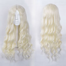 Game Of Thrones Daenerys Cosplay Synthetic Long White Curly Classic Cap Wigs
