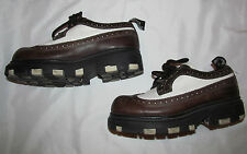 LONDON UNDERGROUND wingtip oxford rockabilly chunky platform creepers shoes 7 m