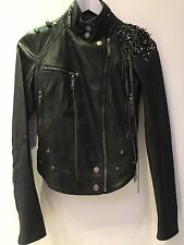biker jacket faux leather