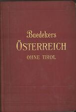 Baedekers Österreich ohne Tirol  - nicht auf Vollständigkeit überprüft
