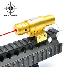 Compact Adjustable Red Dot Laser Sight W/ Mount For 20mm Picatinny & 11mm Rail