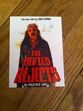 THE DEVIL'S REJECTS Rob Zombie Horror Movie Film RARE Promo sticker Decal; NEW