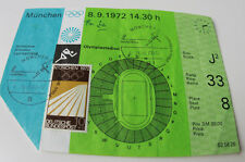 old ticket olympic 1972 Munich 9.09 Athletics Track & Field Komar Poland FINALS
