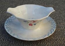 Ancienne saucière en porcelaine Bastia Digoin Sarrg. art pop french pottery