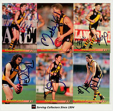 1994 Select AFL Personally Autographed Trading cards Team Set Richmond(8 + 3)