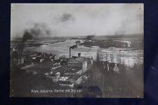 altes Foto Kiew Industrie Viertel mit Dnjieper 1900 Russland Zahrenzeit Ukraine