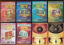 Chartbuster Essentials & DK Karaoke, 8 CAVS SCDG Discs, 4500 Songs ALSO in MP3+G
