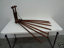 ANTIQUE VINTAGE OLD WOOD WOODEN 7 ARM CLOTHES HANGING DRYING RACK DRYER BEAUTY