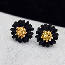 Design Elegant Jewelry Big Flowers Stud Earrings for Women Girl Lady Fine CA