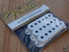 Genuine FENDER Original STRAT White PICKUP COVERS SET 3