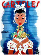 "11x14""Quality CANVAS decor.Home room art.Fashion fruit seller girl.6638"
