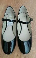 New *Clarks* 6 (UK) Dora black patent flat shoes, comfy casual