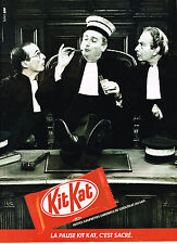 PUBLICITE ADVERTISING  1985   KIT KAT   barre chocolatée