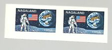 Nagaland (Propaganda) 1971 Apollo 15, Space 1v Imperf S/S Collective Proof Pair