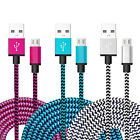 3m 2m 1m Braided Aluminum Micro USB Data Sync Charging Cable for Android & IOS