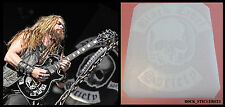 Black Label Society guitar stickers Zakk Wylde skull vinyl decal 248×222 mm