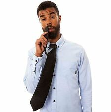 Flask Tie - Hidden Booze Flask, Black Secret Compartment Liquor Travel Club Gag