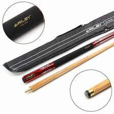 RILEY 48 Inch JUNIOR RED ROCKET 2pc Ash Pool Snooker Cue & RILEY SOFT CASE