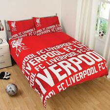 LIVERPOOL FC IMPACT DOUBLE DUVET COVER SET RED OFFICIAL FOOTBALL FAN BEDDING NEW