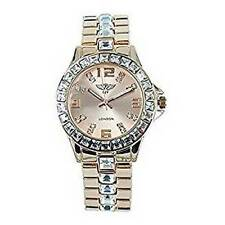 NY London Femmes Diamante Cadran & Bracelet Or Rose Métal Montre